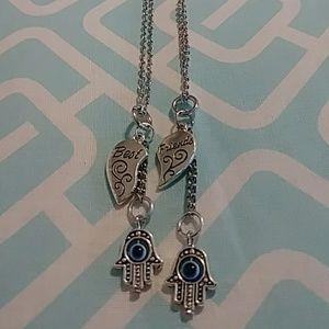 Best friend necklace set
